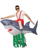 Adult Inflatable Ride-A-Shark Costume
