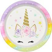 "Dreamy Unicorn 9"" Lunch Plates"