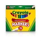 Crayola 12ct. Broad LineMarkers, Assorted Colors