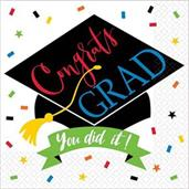 100% Done Grad Lunch Napkins (125)
