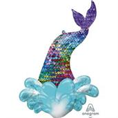 "Mermaid Sequin Tail 39"" Foil Balloon"