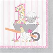 Sweet Farmhouse 1st Birthday Lunch Napkins (16)