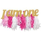 Pink & Gold High Chair Fringe Banner