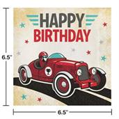 Vintage Race Car Lunch Napkins (16)