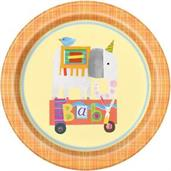 "Circus Animal 9"" Lunch Plate (8)"