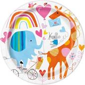 "Zoo Baby 9"" Lunch Plate (8)"