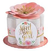 Floral Baby Diaper Cake Decorating Kit