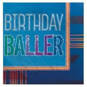 Birthday Baller Beverage Napkins (16)