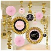Sixteen Rose Gold Hanging Decoration Kit
