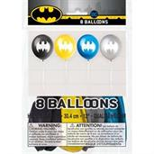 12inch Batman 2 Sided Latex Balloons (8 Pack)