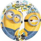 Minions 2 7 inch Plates(8 Pack)
