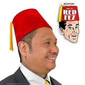 Red Fez Costume Hat