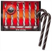 Coal Candy Canes 3.8oz, Set of 6