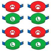 Super Mario Bros. Paper Party Hats, 8 Pack