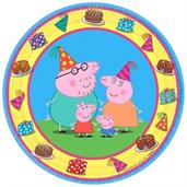 "Peppa Pig 7"" Round Paper Plates, 8 Count"
