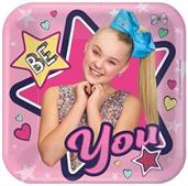 "JoJo Siwa 7"" Square Paper Party Plates, 8-Pack"