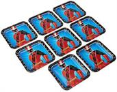 "Power Rangers Ninja Steel 9"" Square Paper Party Plates, 8-Pack"