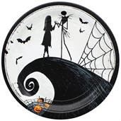 "Nightmare Before Christmas 9"" Round Paper Plates, 8-Pack"
