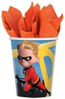 Diney/Pixar Incredibles 2 9oz Paper Party Cups, 8-Pack