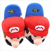 Super Mario Bros. Mario Youth Size Plush Slippers