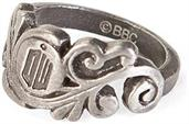 Doctor Who Logo Vine Stainless Steel Women's Ring, Size 7