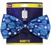 Doctor Who Seal of Rassilon Hair Bow Clip, Dark Blue