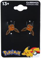Pokemon Eevee Head Stainless Steel Stud Earrings
