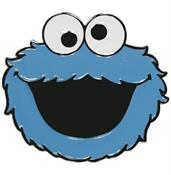 Sesame Street Cookie Monster Face Metal Belt Buckle