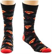 Batman v Superman: Dawn of Justice Logos Men's Crew Socks