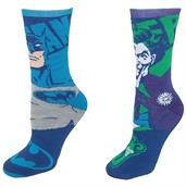 Batman and Joker Reversible Adult Crew Socks