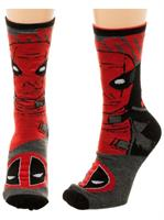 Marvel Deadpool Reversible Men's Crew Socks