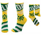 Legend of Zelda Link/ Triforce Reversible Men's Crew Socks