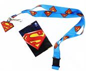 Superman Lanyard with Logo Charm