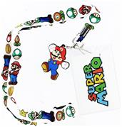 Super Mario Bros. Lanyard with Mario Charm