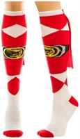 Power Rangers Red Caped Women's Knee High Socks