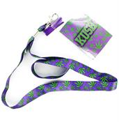 """Kush"" Pot Leaf Lanyard with Charm"