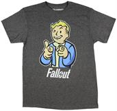 Fallout Vault Boy Charcoal Heather Adult T-Shirt