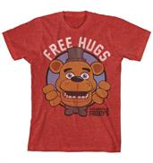 "Five Nights at Freddys ""Free Hugs"" Boy's Red T-Shirt"