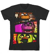 "Five Nights at Freddy's ""Characters"" Boy's Black T-Shirt"