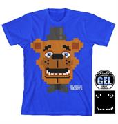 "Five Nights at Freddys ""Pixel Freddy"" Boy's Blue T-Shirt"