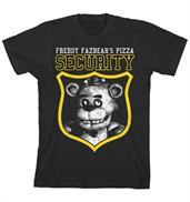 "Five Nights at Freddy's ""Security"" Boy's Black T-Shirt"