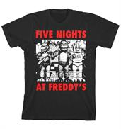 "Five Nights at Freddy's ""Red Letters"" Boy's Black T-Shirt"