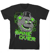 "Five Nights at Freddy's ""Game Over"" Boy's Black T-Shirt"