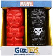 Marvel Daredevil and Punisher Geeki Tiki Mug 2-Pack, Toynk SDCC Exclusive
