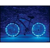 Wheel Brightz Lightweight LED Bicycle Safety Light Accessory Blue