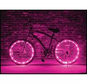 Wheel Brightz Lightweight LED Bicycle Safety Light Accessory Pink