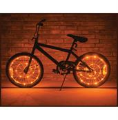 Wheel Brightz Lightweight LED Bicycle Safety Light Accessory Orange