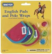 Breyer 1:9 Traditional Model Horse Accessory: English Pads & Polos, Hot Colored