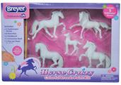 Breyer 1:32 Stablemates Paint Your Own Horse: 5-Piece Colorful Breeds