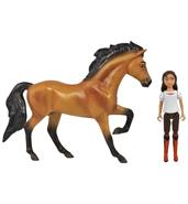 Spirit Riding Free Small Horse and Doll Set: Spirit and Lucky